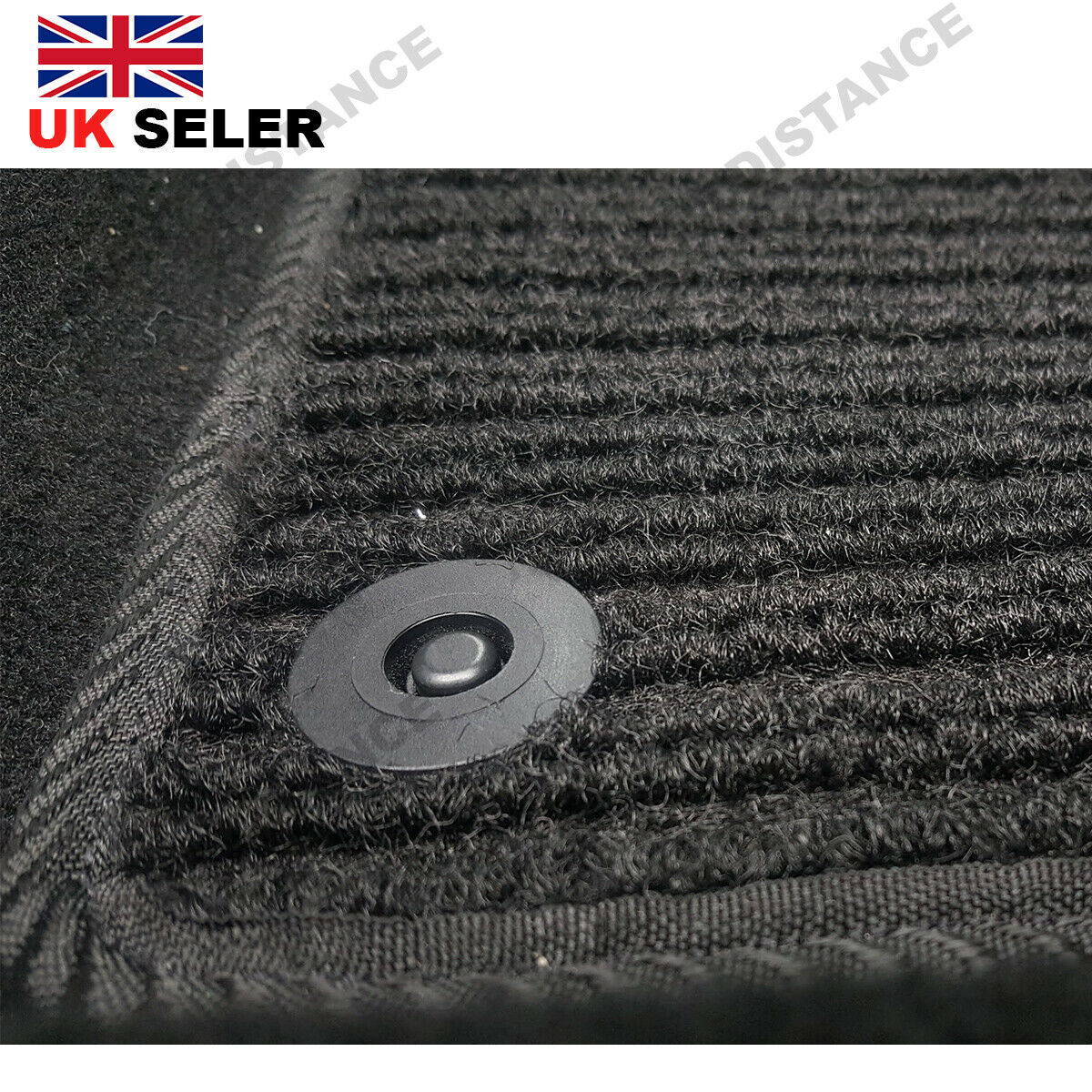 Tailored-Quality-Black-Carpet-Car-Mats-With-Heel-Pad-Nissan-Leaf-2014-2017 thumbnail 5